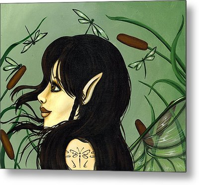 Dragonfly Fairy 5 Metal Print by Elaina  Wagner