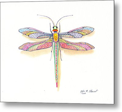 Dragonfly Metal Print by John Norman Stewart
