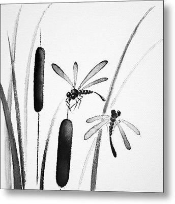 Dragonfly Serenity Metal Print by Oiyee At Oystudio