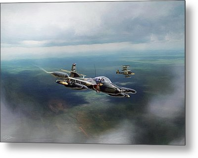 Metal Print featuring the digital art Dragonfly Special Operations by Peter Chilelli