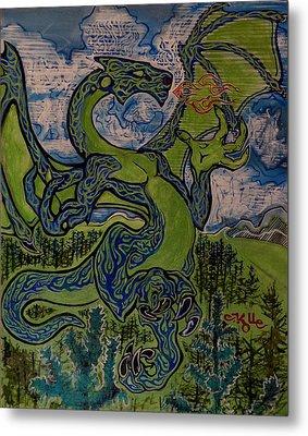 Dragonosity Metal Print by Christian Kolle