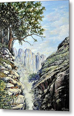 Metal Print featuring the painting Drakensberg by Heidi Kriel