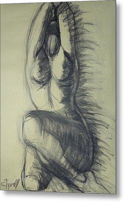 Dramatic 3 - Female Nude  Metal Print