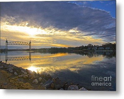 Dramatic Cape Cod Canal Sunrise Metal Print by Amazing Jules