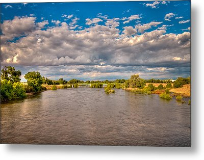 Dramatic Clouds And Kern River Metal Print