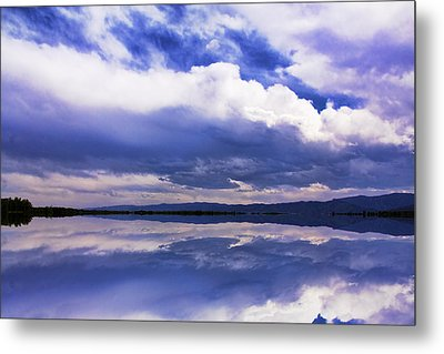 Dramatic Clouds Of A Coming Storm Metal Print by Daphne Sampson