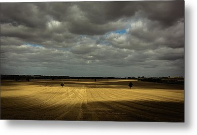 Dramatic Farmland Metal Print by Chris Fletcher