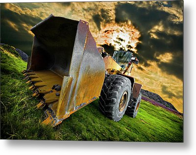 Dramatic Loader Metal Print by Meirion Matthias