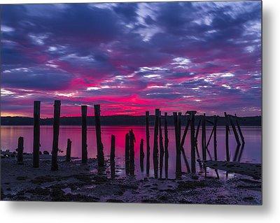 Dramatic Maine Sunrise Metal Print by John Vose