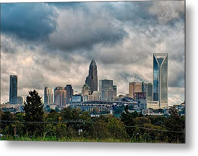Dramatic Sky And Clouds Over Charlotte North Carolina Metal Print by Alex Grichenko