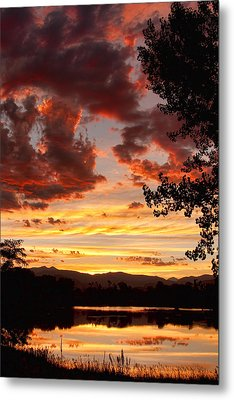 Dramatic Sunset Reflection Metal Print by James BO  Insogna