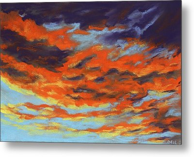 Dramatic Sunset - Sky And Clouds Collection Metal Print