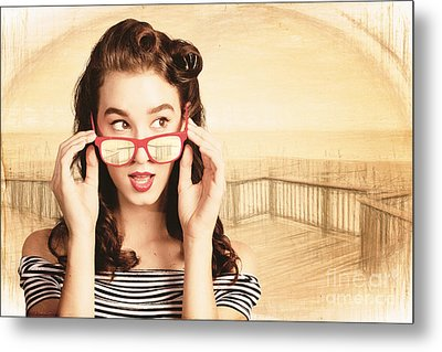 Drawn Out Glances Metal Print by Jorgo Photography - Wall Art Gallery