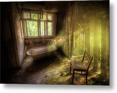 Metal Print featuring the digital art Dream Bathtime by Nathan Wright