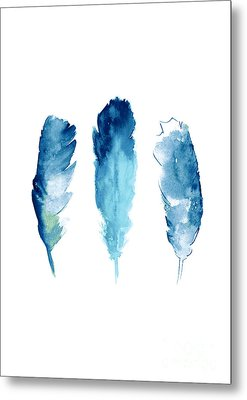 Dream Catcher Feathers Painting Metal Print by Joanna Szmerdt