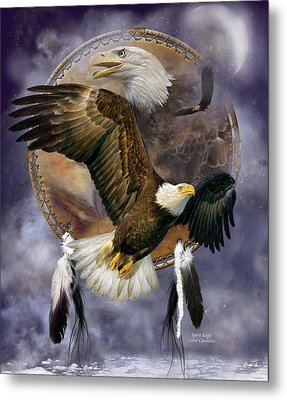 Dream Catcher - Spirit Eagle Metal Print by Carol Cavalaris