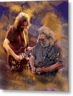 Metal Print featuring the painting Dream Colors  Jerry Garcia Greatful Dead by Iconic Images Art Gallery David Pucciarelli