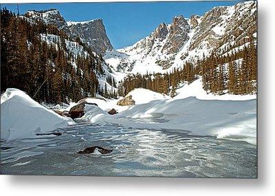 Dream Lake Rocky Mountain Park Colorado Metal Print by James Steele