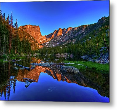 Dream Lake Sunrise Rocky Mountain Natl Park Metal Print