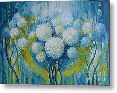 Metal Print featuring the painting Dream Land by Elena Oleniuc