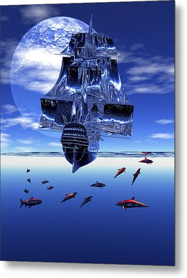 Metal Print featuring the digital art Dream Sea Voyager by Claude McCoy