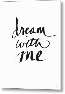 Dream With Me- Art By Linda Woods Metal Print
