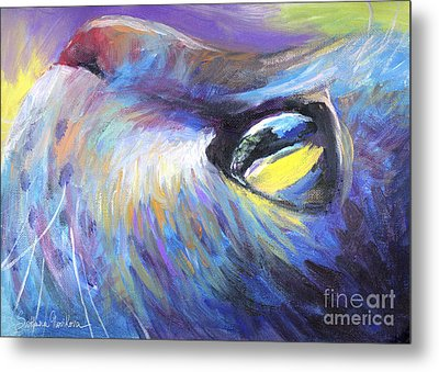 Dreamer Tubby Cat Painting Metal Print