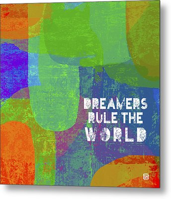 Metal Print featuring the painting Dreamers Rule by Lisa Weedn