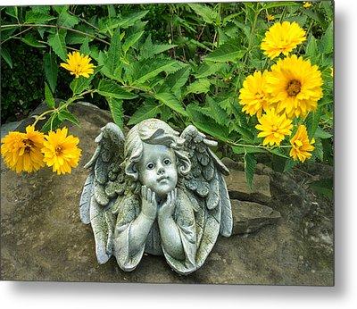 Dreaming Angel Metal Print