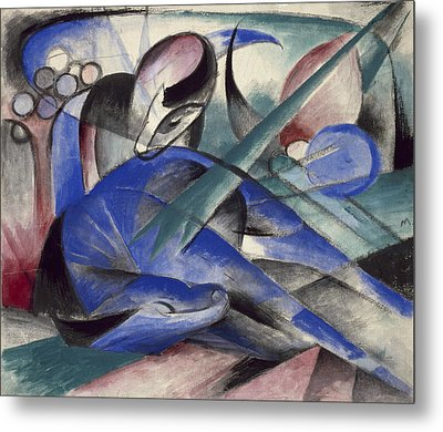 Dreaming Horse Metal Print by Franz Marc