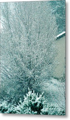 Metal Print featuring the photograph Dreaming Of A White Christmas - Winter In Switzerland by Susanne Van Hulst