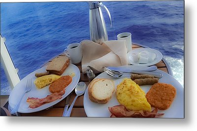 Metal Print featuring the photograph Dreaming Of Breakfast At Sea by DigiArt Diaries by Vicky B Fuller