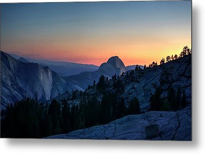 Metal Print featuring the photograph Dreaming Of Climbing Half Dome by Peter Thoeny