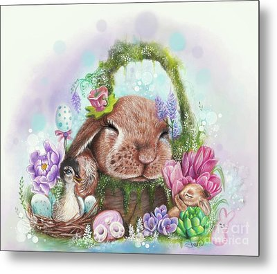 Metal Print featuring the mixed media Dreaming Of Spring - Dreaming Of Collection  by Sheena Pike