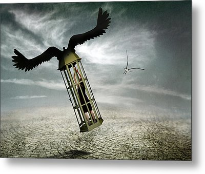 Dreams Are Never Real. Metal Print by Ben Goossens