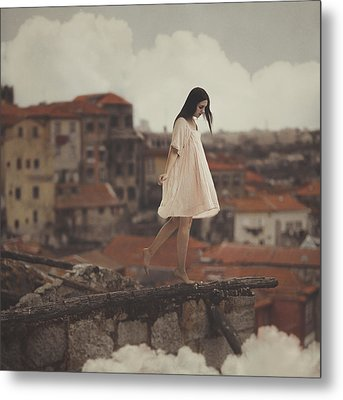 Dreams In Old Porto Metal Print by Anka Zhuravleva