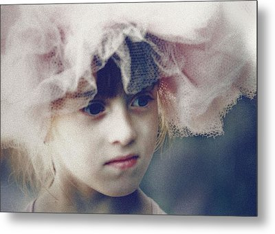 Metal Print featuring the photograph Dreams In Tulle 2 by Marna Edwards Flavell