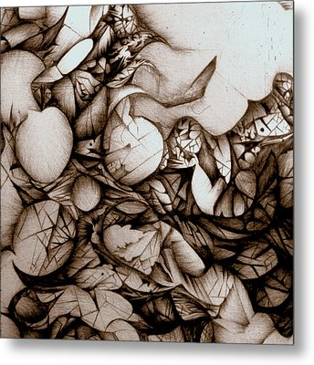 Metal Print featuring the drawing Dreams Of Long Ago by Jack Dillhunt