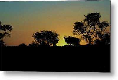 Dreams Of Namibian Sunsets Metal Print by Ernie Echols