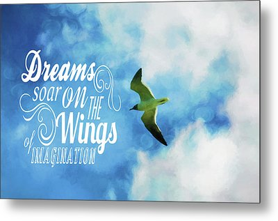 Metal Print featuring the photograph Dreams On Wings by Jan Amiss Photography