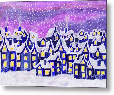 Dreamstown Blue, Painting Metal Print