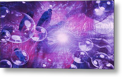 Metal Print featuring the digital art Flower Fractals  by Fine Art By Andrew David