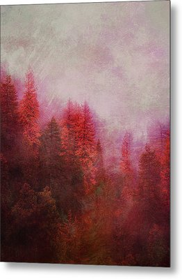 Metal Print featuring the digital art Dreamy Autumn Forest by Klara Acel