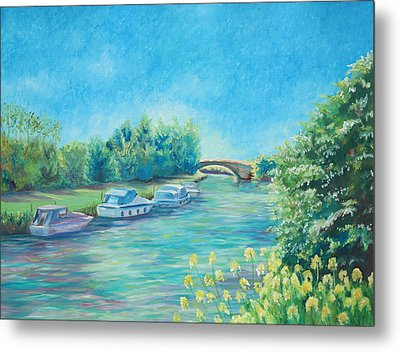 Metal Print featuring the painting Dreamy Days by Elizabeth Lock