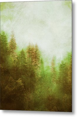 Metal Print featuring the digital art Dreamy Summer Forest by Klara Acel