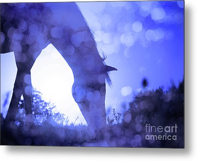 Dreamy Sunrise In Blue Metal Print