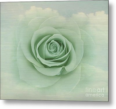 Dreamy Vintage Floating Rose Metal Print