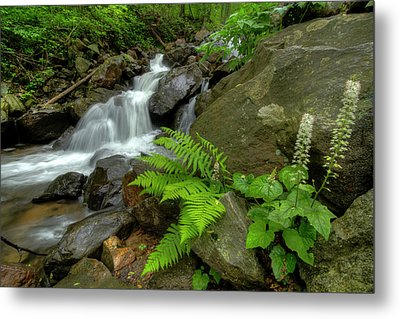Metal Print featuring the photograph Dreamy Waterfall Cascades by Debra and Dave Vanderlaan