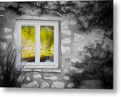 Dreamy Window Metal Print by Carol Crisafi