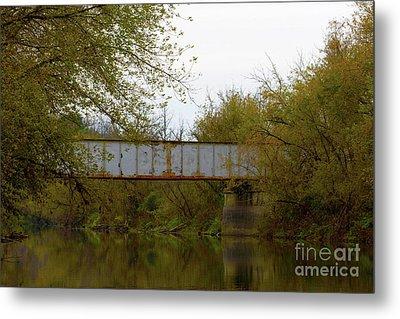 Dreary Bridge Dreary Day Metal Print by Alan Look